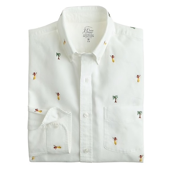 1bd07c2a J. Crew Shirts | J Crew Tropical Embroidered Button Up Oxford | Poshmark